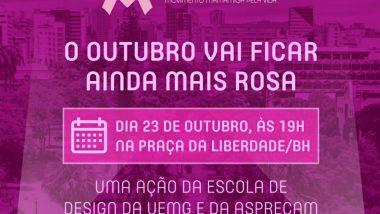 Praça cor de Rosa, espaços culturais alertam sobre  o cuidado com o câncer de mama